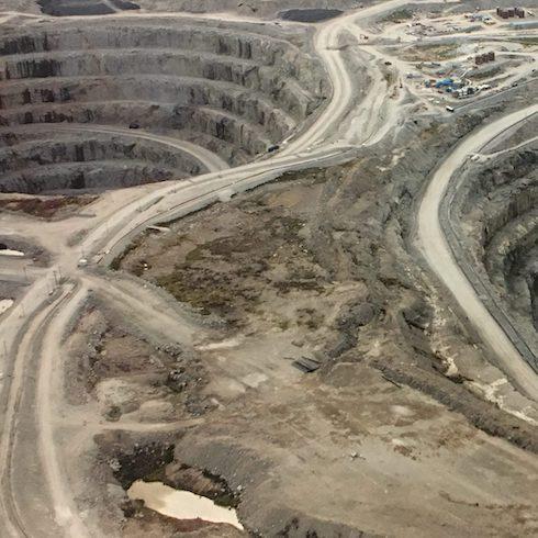 The Diavik diamond mine