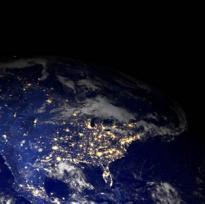 stati uniti dallo spazio