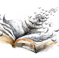 libro e uccelli