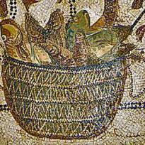 mosaico cibo