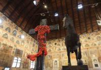 Una delle opere di Gaetano Pesce a Palazzo della Ragione. Foto: Massimo Pistore
