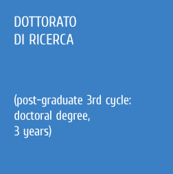 Dottorato di ricerca (Post graduate 3rd cycle: doctoral degree 3 years