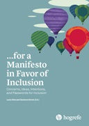 "copertina volume ""...for a Manifesto in Favor of Inclusion"""