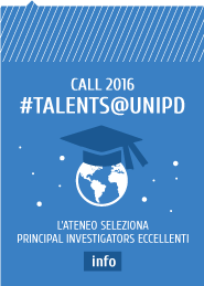 call 2016 #talents@unipd