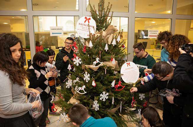 Collegamento a Un albero di Natale speciale a palazzo Storione, tra inclusione e sostenibilità