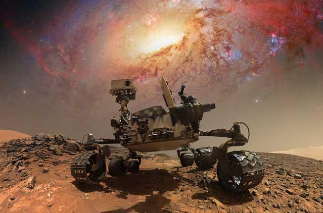 Collegamento a Droni e rover nello spazio