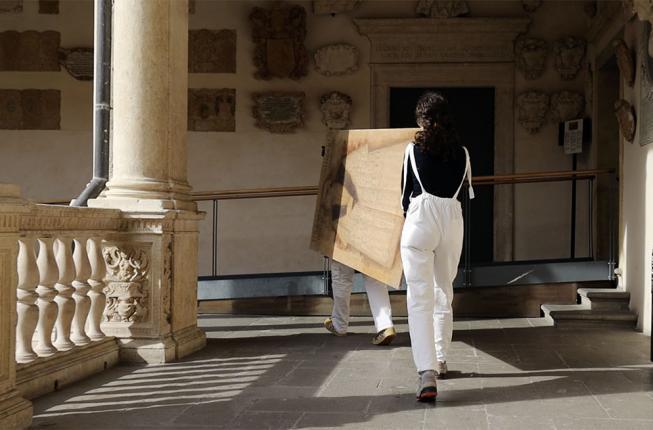 Collegamento a Al via i lavori di restauro della Sala dei Quaranta a Palazzo Bo