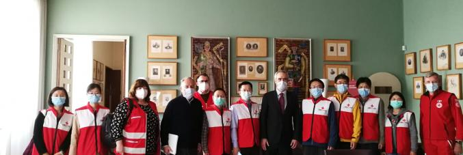 Rizzuto con delegazione di medici cinesi
